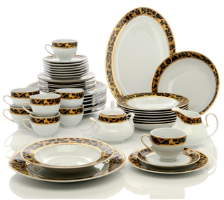 HSN Leopard Chic Dinnerware