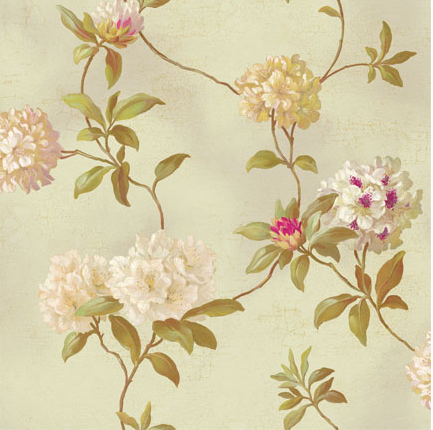 SW floral wallpaper