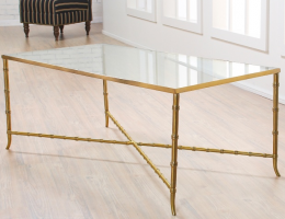 Nate Berkus Bamboo Glass Top Coffee Table