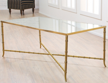 Nate Berkus Bamboo Glass Top Coffee Table