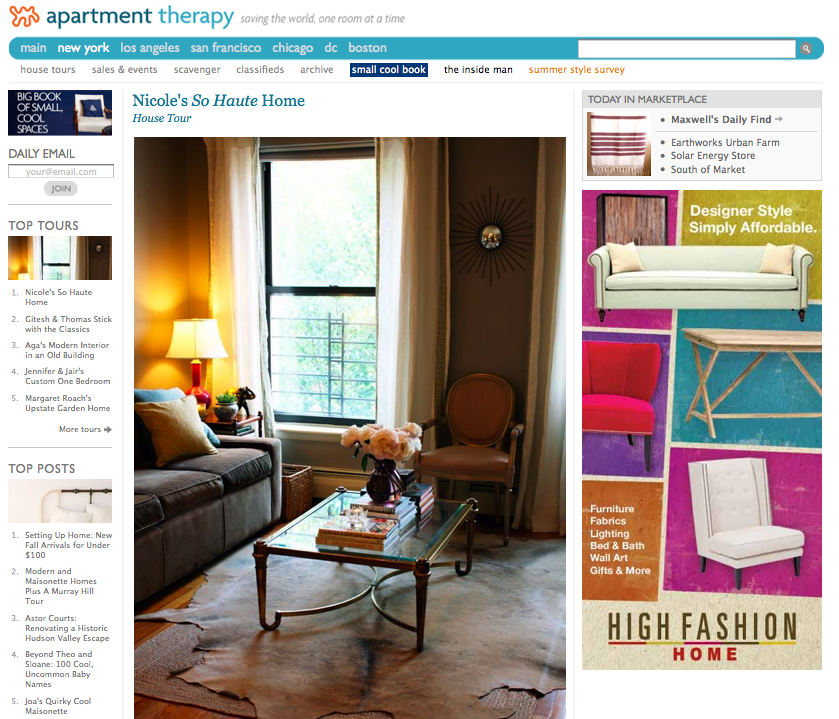 Check Out My Apartment Therapy House Tour