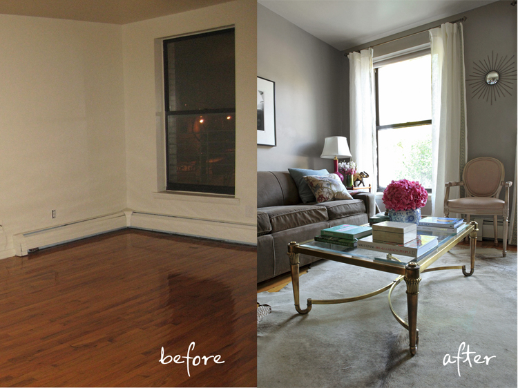 Check Out My Living Room Before After At Brooklyn Limestone