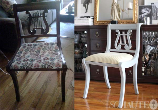 my craigslist dining chairs: before & after - nicole gibbons style
