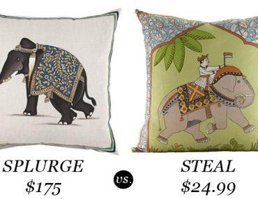 Elephant Pillows - Splurge Steal