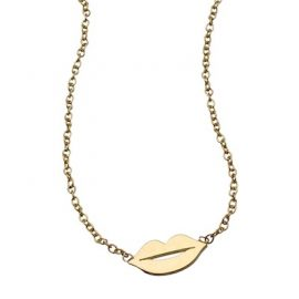 Kacey K Fine Jewelry Gold 'Lips' Necklace