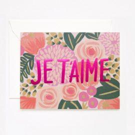 Je T'Aime Card