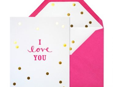 I Love You Confetti Card