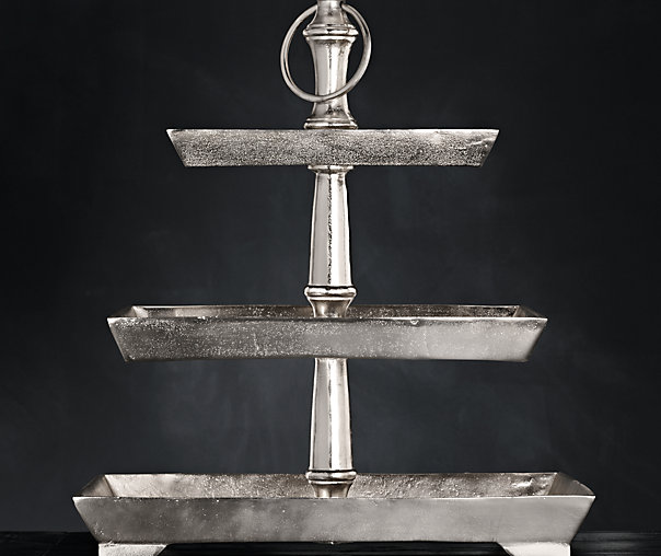 Grand Brasserie Cast Aluminum Tiered Rectangular Stand