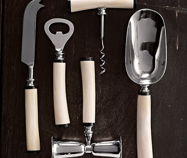 Natural White Bone Bar Tool Set