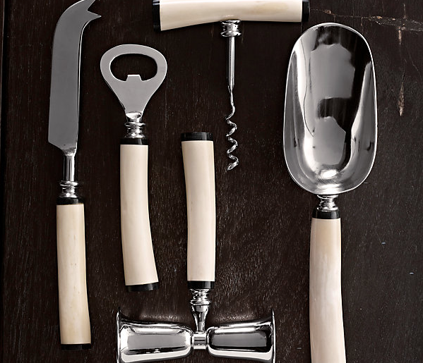Natural White Bone Bar Tool Set