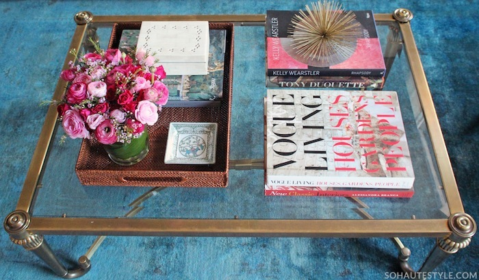 How To Style A Coffee Table how to style a super chic coffee table - nicole gibbons style