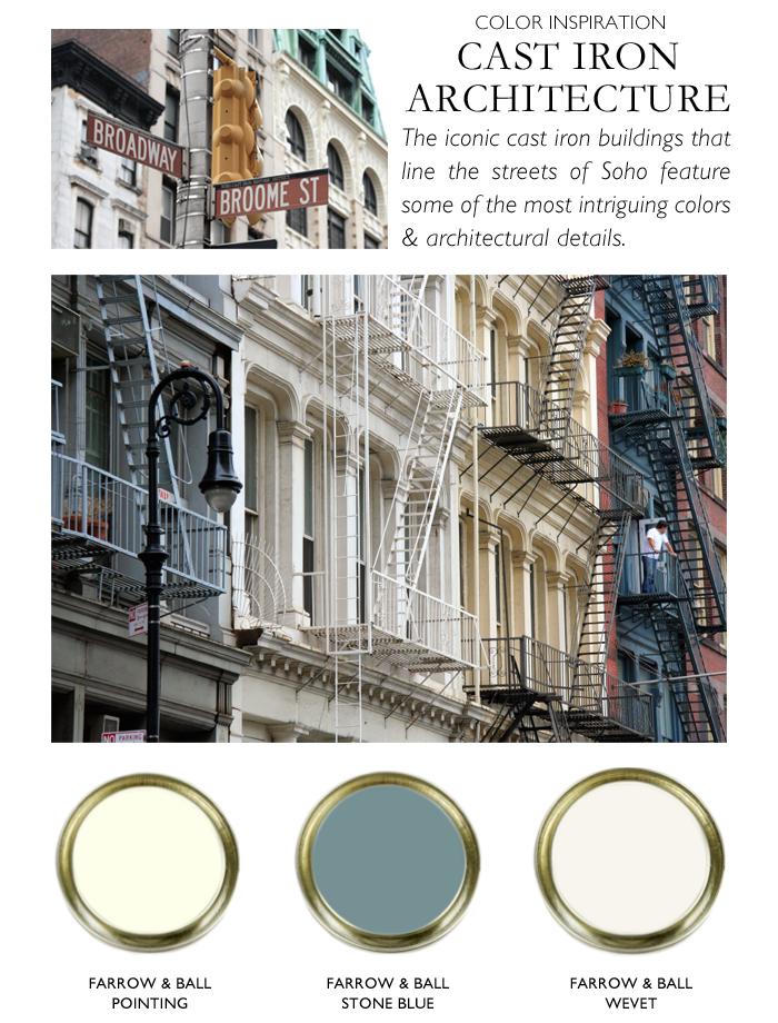 City Palette-NY Nicole Gibbons-cast iron-Farrow & Ball