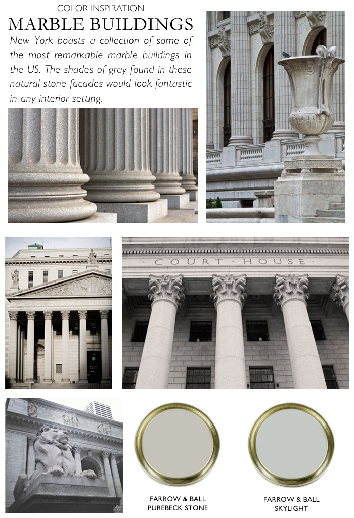 City Palette-NY Nicole Gibbons-marble buildings-Farrow & Ball