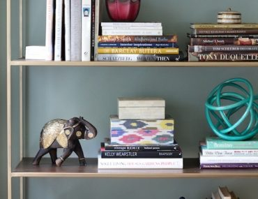 DIY Gold Bookcase Etagere - from sohautestyle.com