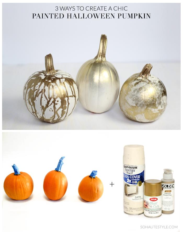 Chic_Halloween_Painted_Pumpkins_1