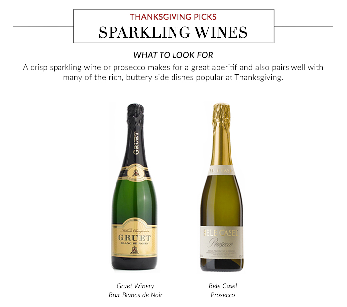 Thanksgiving Wine Pairings - Sparkling