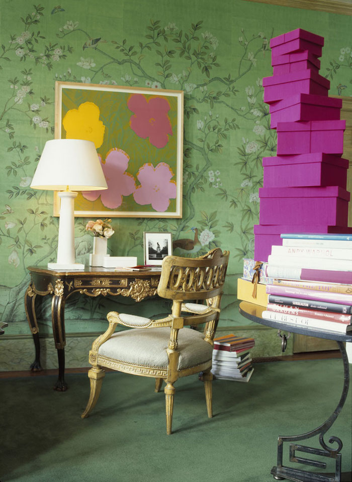 De gournay gracie wallpaper look for less nicole for Wallpaper for less