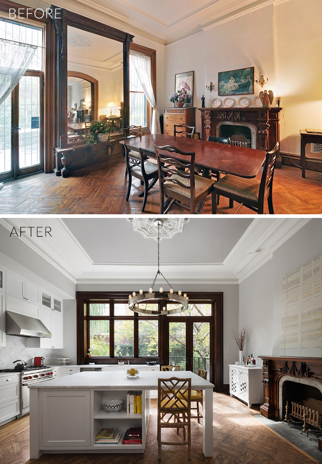 Brooklyn Brownstone Kitchen Before - After
