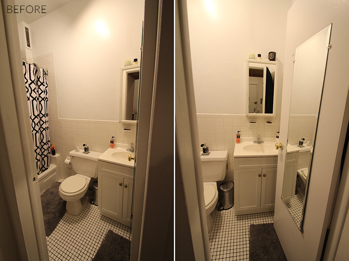 Bathroom Makeover Apartment a teen vogue editor's stylish rental bathroom makeover - nicole