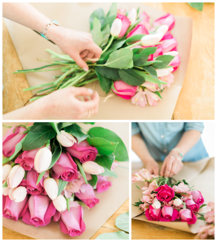 DIY Mother's Day Bouquet - tips from floral designer Michaela Hogarty on sohautestyle.com