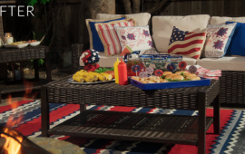 An Americana Themed Backyard Makeover - With Pier 1 | sohautestyle.com