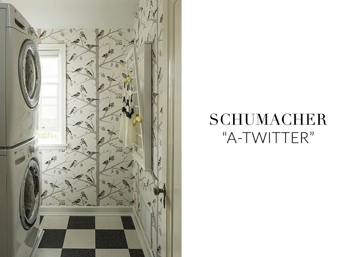 10 Stylish Wallpapers to Liven Up Your Laundry Room. A-Twitter Wallpaper | sohautestyle.com