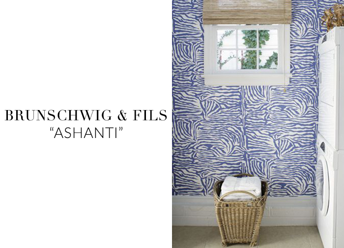 10 Stylish Wallpapers to Liven Up Your Laundry Room. Ashanti Wallpaper  | sohautestyle.com