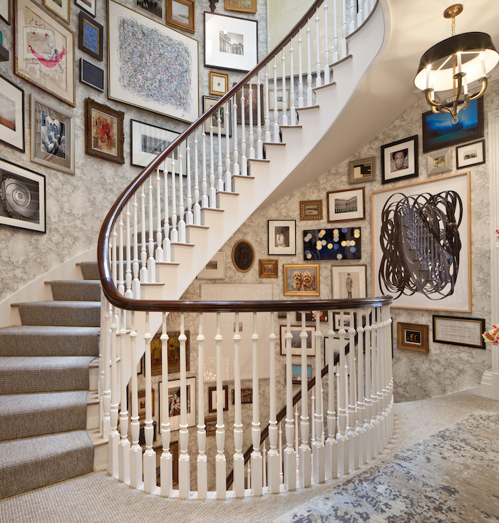 An Epic Staircase Gallery Wall By Phillip Mitchell Design At The Kips Bay  Showhouse