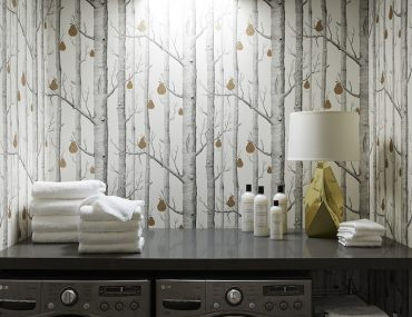 Nicole Gibbons Studio Laundry Room Cole and Son