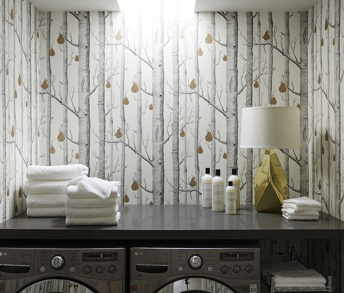 10 Stylish Wallpapers to Liven Up Your Laundry Room. Nicole Gibbons Studio Laundry Room | sohautestyle.com