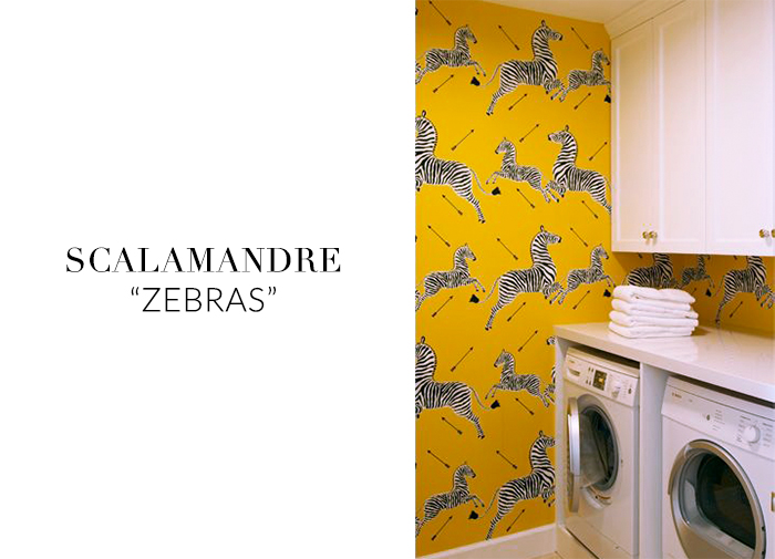 10 Stylish Wallpapers to Liven Up Your Laundry Room. Scalamandre Zebras Wallpaper | sohautestyle.com