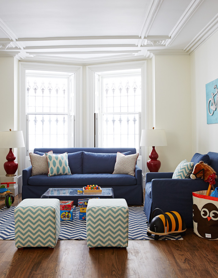 Before & After - A Stylish & Sophisticated Playroom designed by Nicole Gibbons