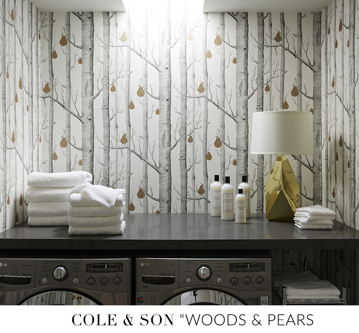 10 Stylish Wallpapers to Liven Up Your Laundry Room. Woods Pears Cole & Son Wallpaper | sohautestyle.com