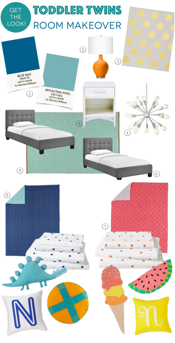 Twins Room Makeover Get the Look 2