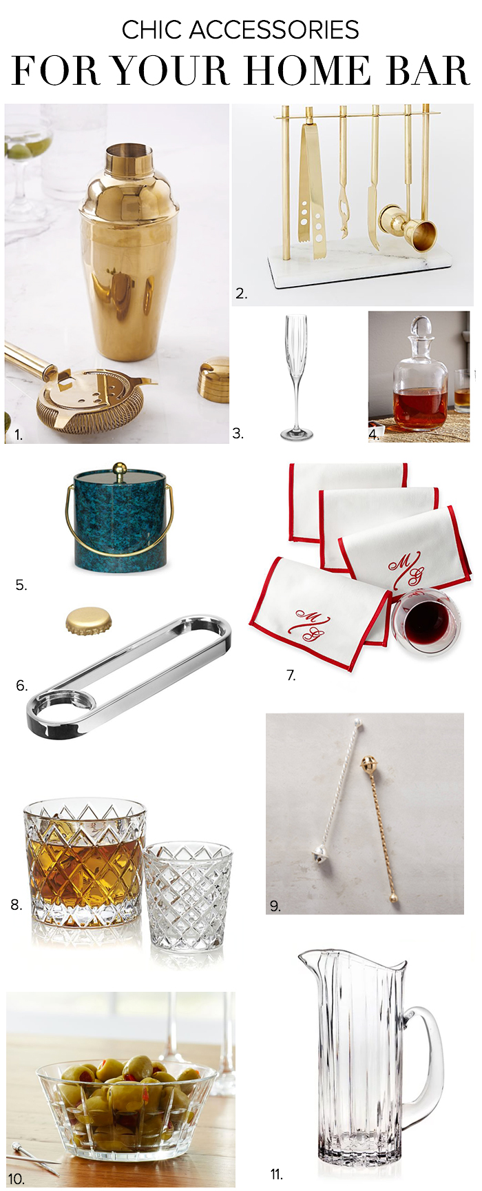 Chic Bar Accesories