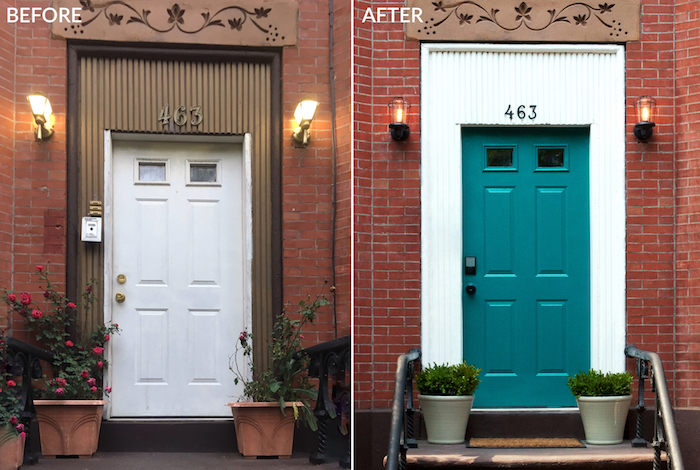 Schlage Front Door BEFORE AFTER Nicole Gibbons