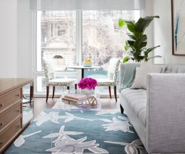 Luxe Studio Apartment Makeover – Entry & Living Room