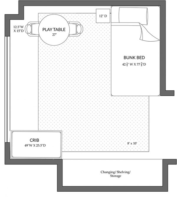 SHARED KIDS ROOM FLOORPLAN