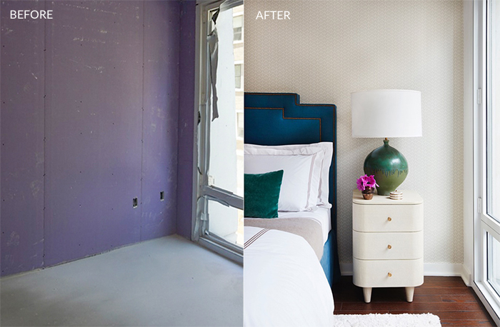 Nicole Gibbons Alcove Studio BEFORE AFTER BEDROOM