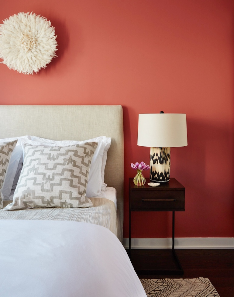 Stylish Coral Bedroom_3