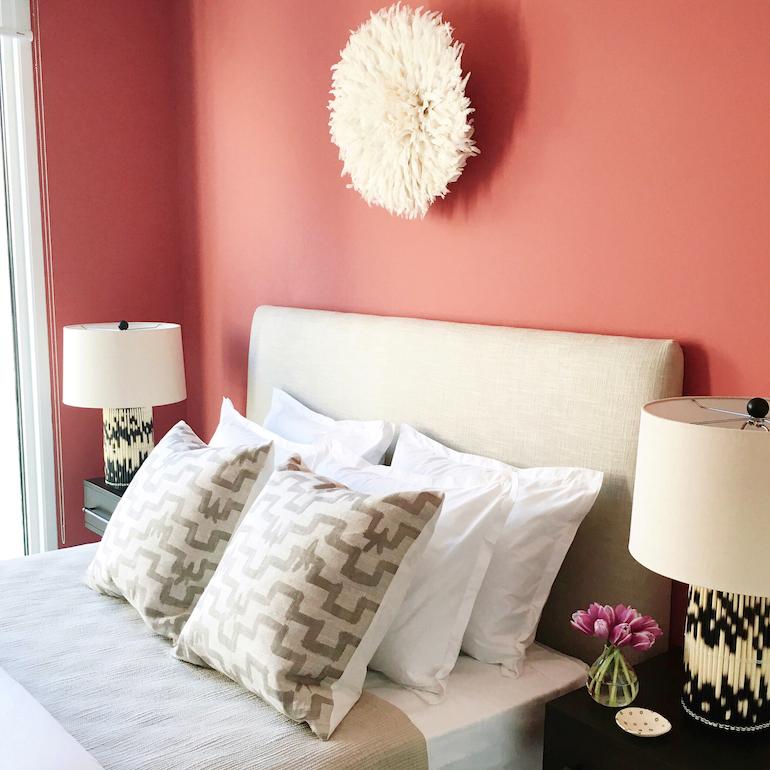 Stylish Coral Bedroom_5
