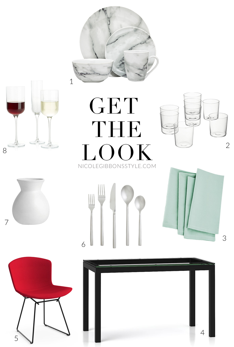 Get The Look - Marble Dinnerware