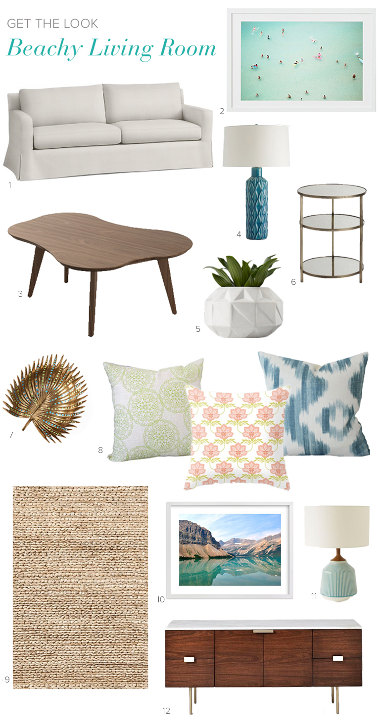 Beachy Living Room Get the Look