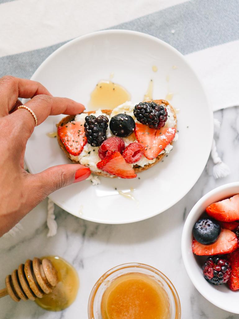Berry Ricotta Toast-4