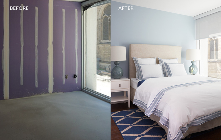 Coastal Beachy Bedroom BEFORE-AFTER