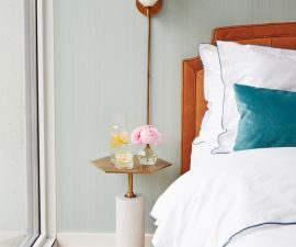 Cognac Leather Bed + Serene Blue Bed_3