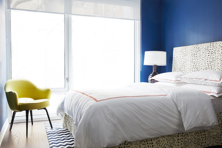 Bold Blue Bedroom _Nicole Gibbons Style _3