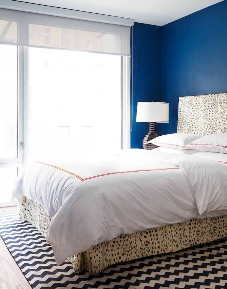 Bold Blue Bedroom _Nicole Gibbons Style _4