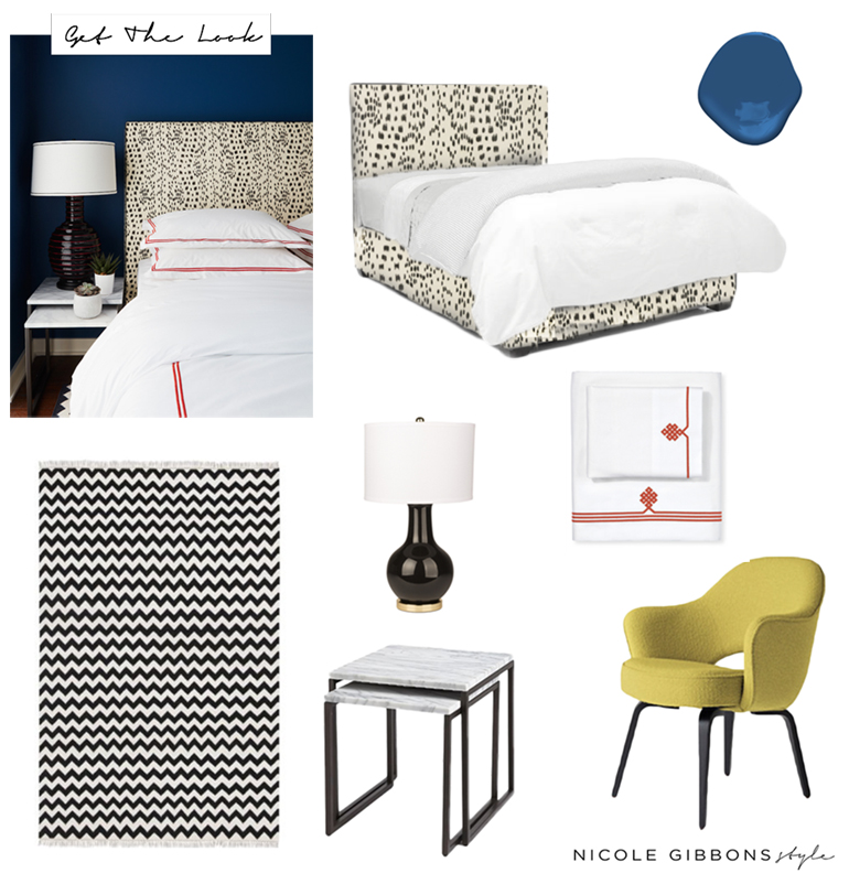 Bold Blue Bedroom _Nicole Gibbons Style _GTL