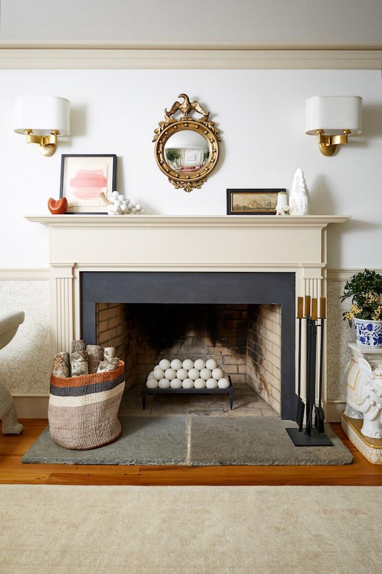 One Kings Lane Connecticut Farmhouse_fireplace